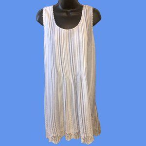 Style & Co Blue White Striped Shift Dress XL